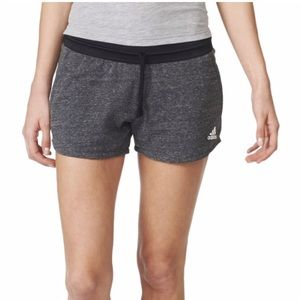 ADIDAS melange cotton  fleece shorts